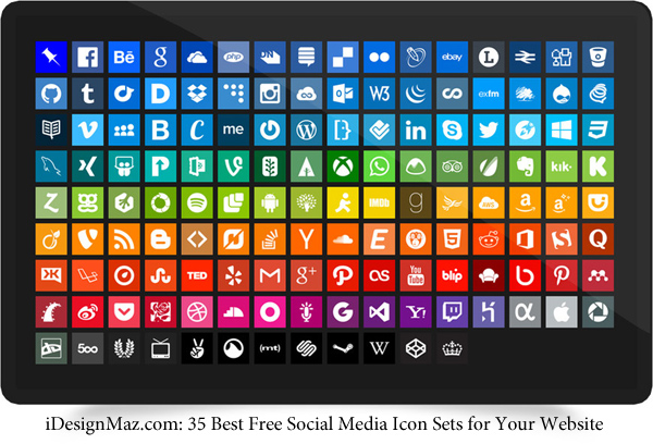 Best Free Social Media Icon Sets