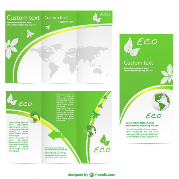 green-brochure-vector-free-template