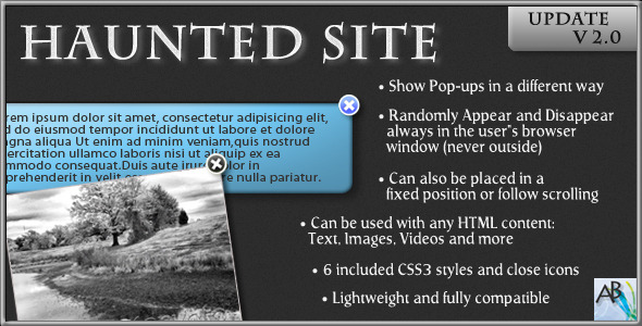 haunted-site-popup-elements-jquery-plugin