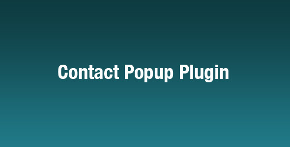 jQuery Contact Popup Plugin