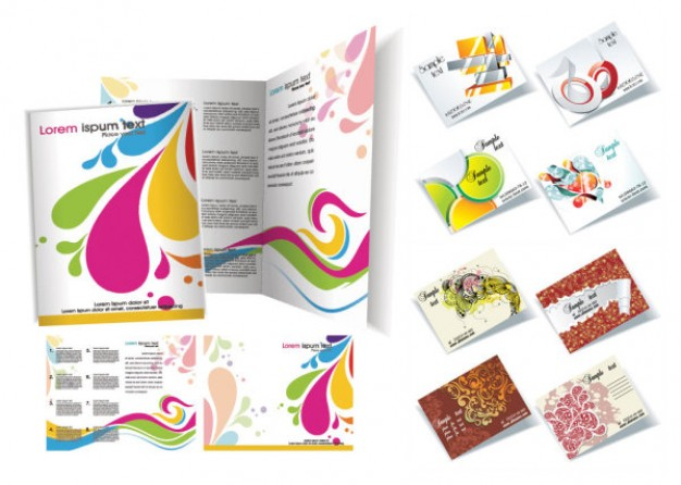 Free Brochure Vector Design Templates  Designmaz