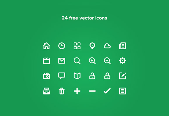 24 PSD tiny icons