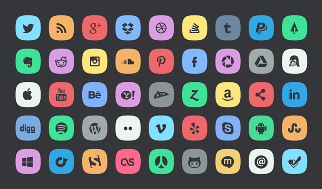 45-subtle-social-icons