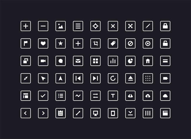 54-Free-Squared-Icons