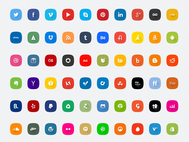 60-social-media-icons