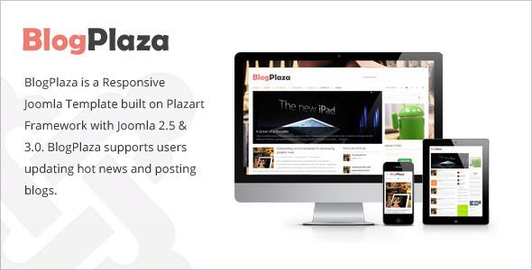 BlogPlaza - Responsive Joomla Template