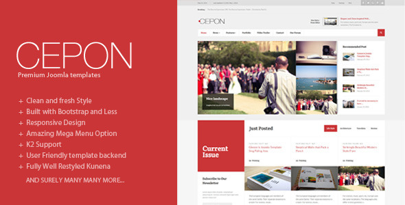 Cepon - News and Magazine Joomla Templates