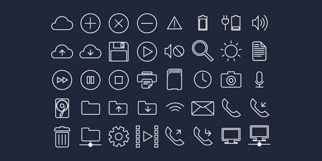 Flat UI System Icons