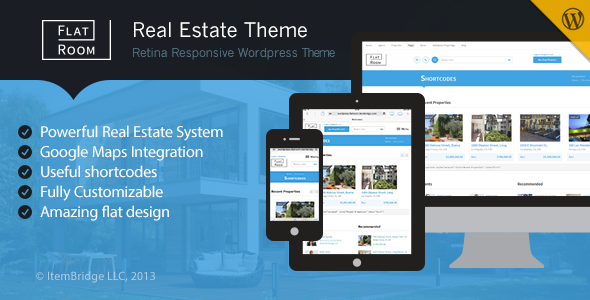 FlatRoom - Responsive Real Estate WordPress Theme