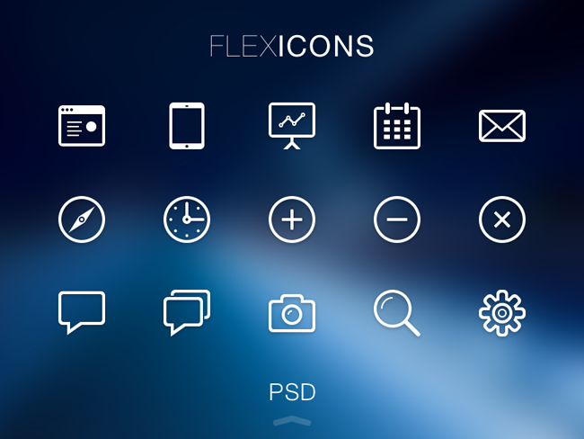 Free Flex Icons PSD