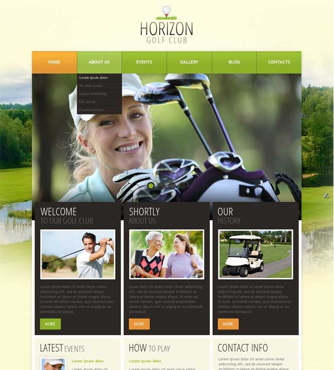 Golf-WordPress-Theme