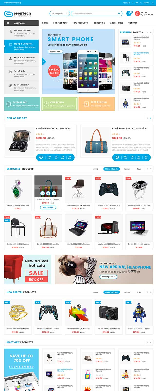 GreenTech-Shopping-Responsive-Magento-Theme