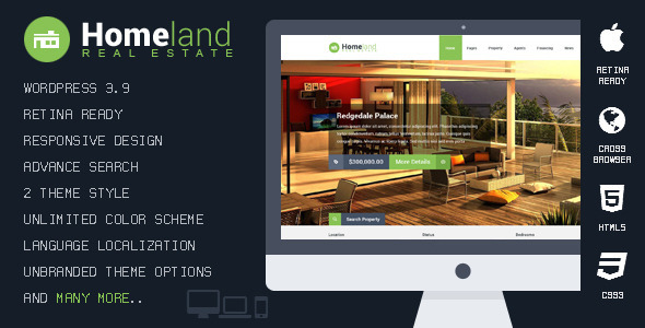 Homeland - Responsive Real Estate WordPress Theme