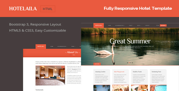 Hotelaila - Responsive Hotel Template