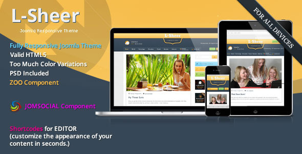 L-sheer - News & Magazine - JomSocial Joomla Template
