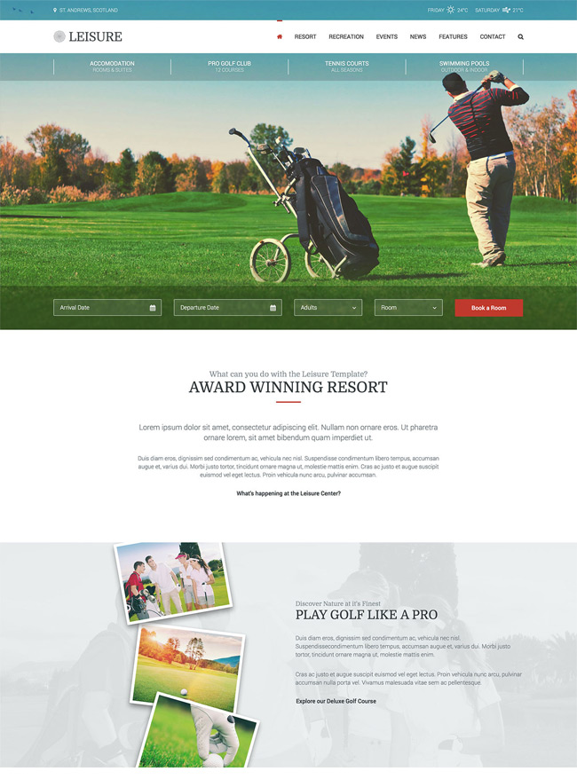 Leisure-Hotel-Golf-WordPress-Theme