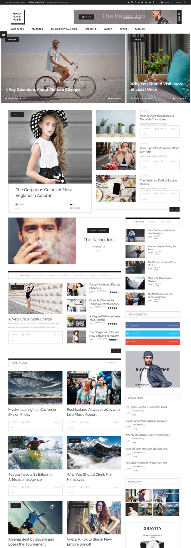 Magazine Vibe A Flat News Magazine WordPress Theme