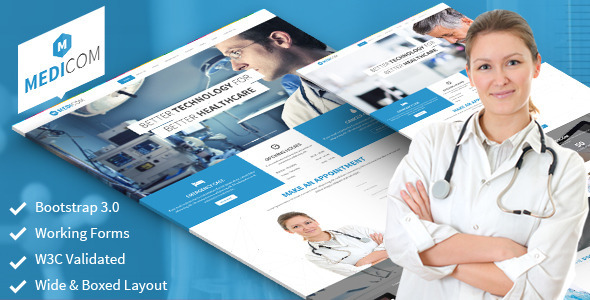Medicom - Fully Responsive Medical & Health Theme