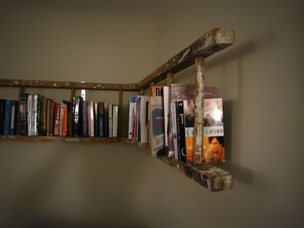 Old Ladder Into Bookshelf -2