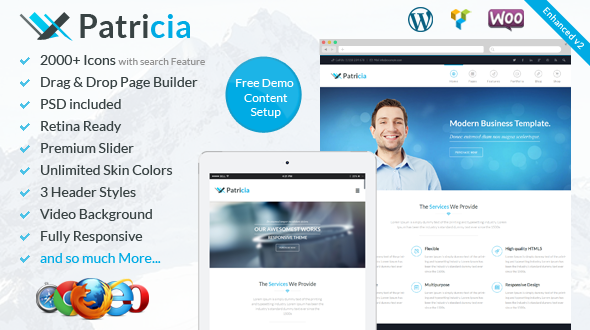 Patricia - Responsive Multi-Purpose WordPress Theme