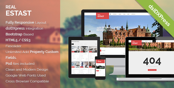 RealEstast Responsive Real Estate WordPress Theme