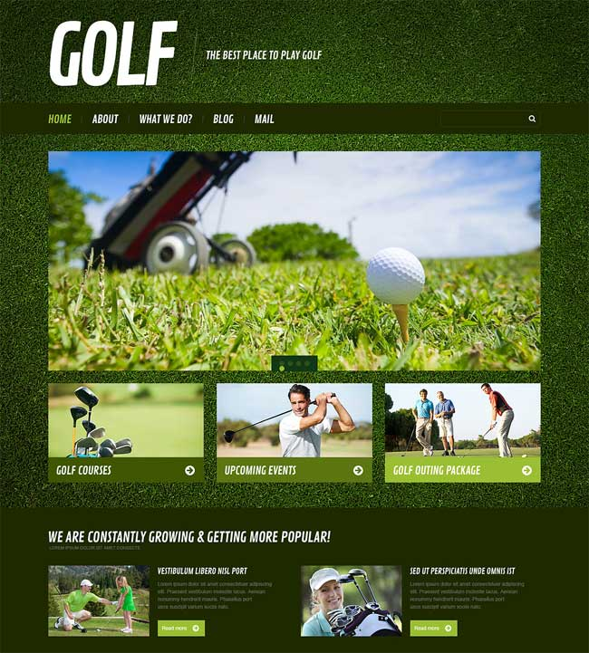 Responsive-Golf-WordPress-Theme
