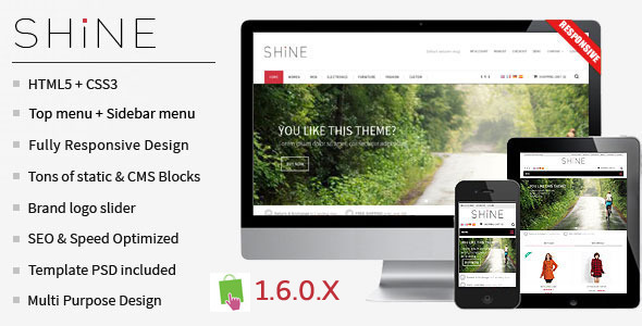 Shine - Responsive Multipurpose PrestaShop Theme
