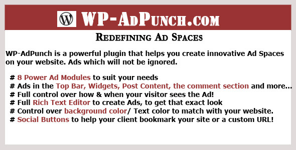 WP-AdPunch - The Ultimate Ads Plugin