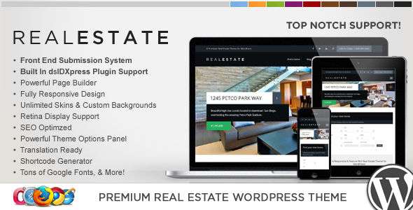 WP Pro Real Estate 6 Responsive WordPress Theme