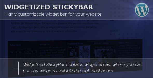 Widgetized Stickybar