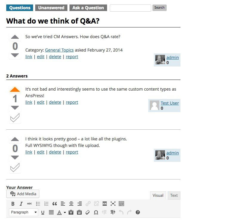 WordPress-QA-Plugin