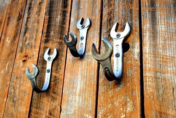 Wrenches Into Wall Hooks
