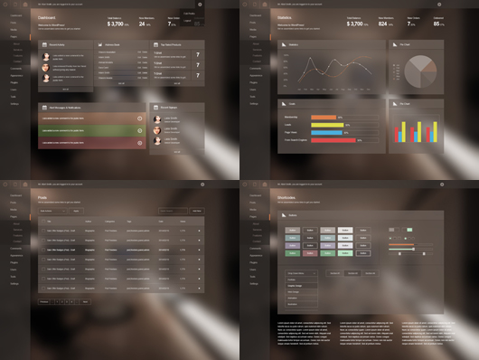 free-dashboard-psd-template