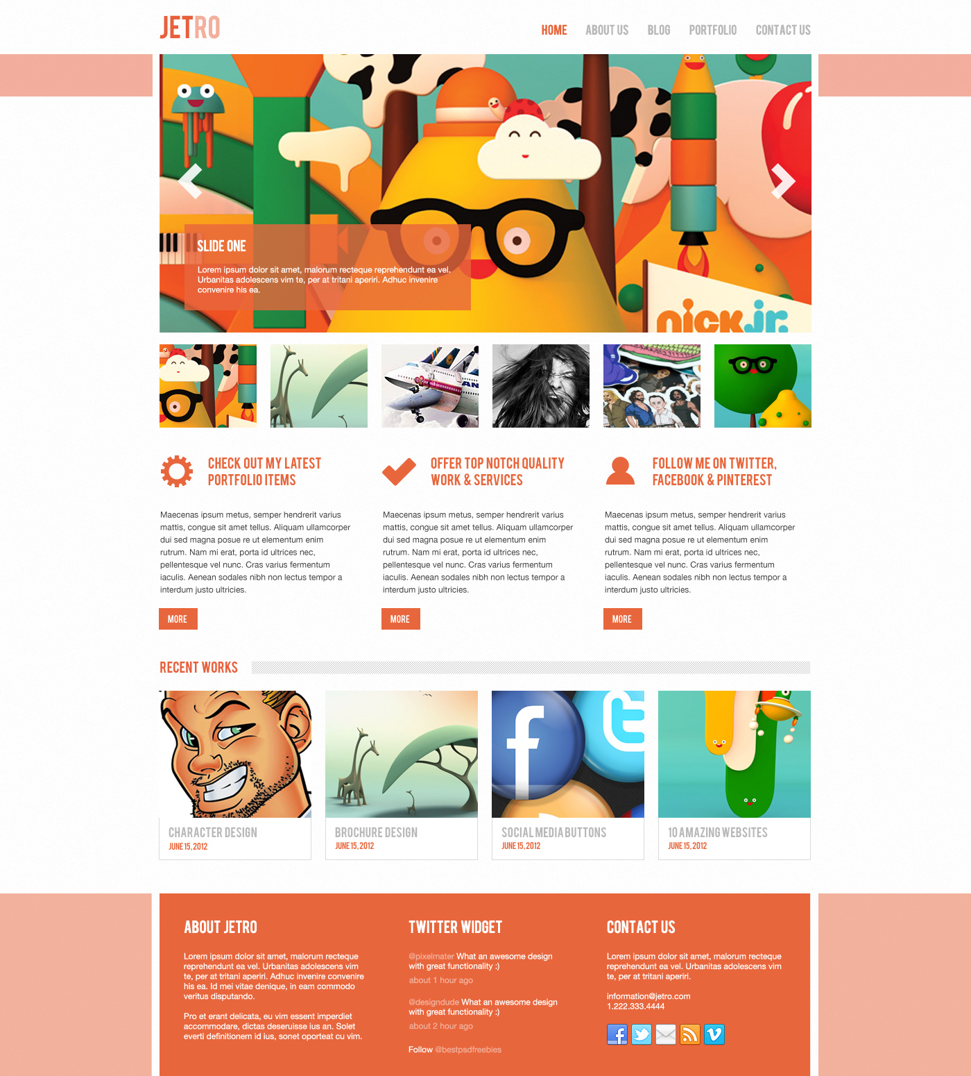Free Jetro PSD & Responsive Html Template | Free download