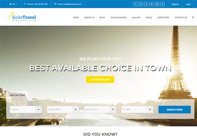 kodetravel-tourism-html5-template