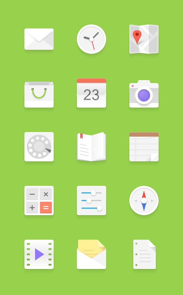 light-android-icons-set
