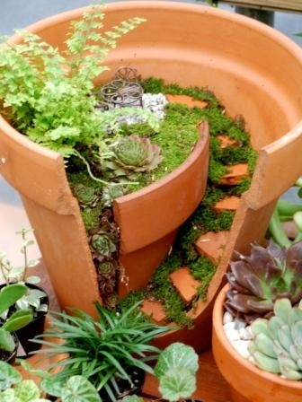 make a little micro-garden out of those shards