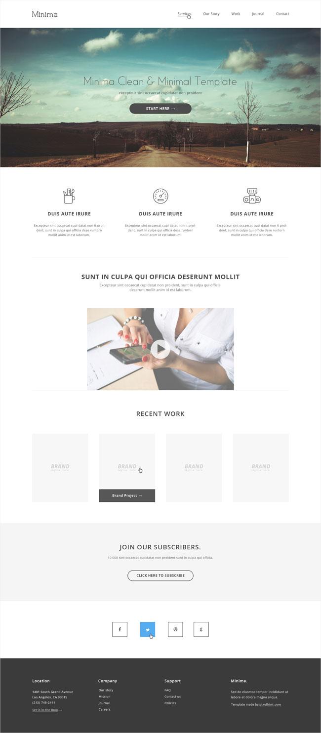 minima-minimalist-html5-website-template