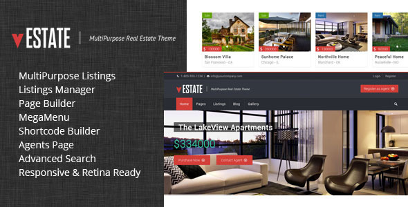vEstate Real Estate WP Theme