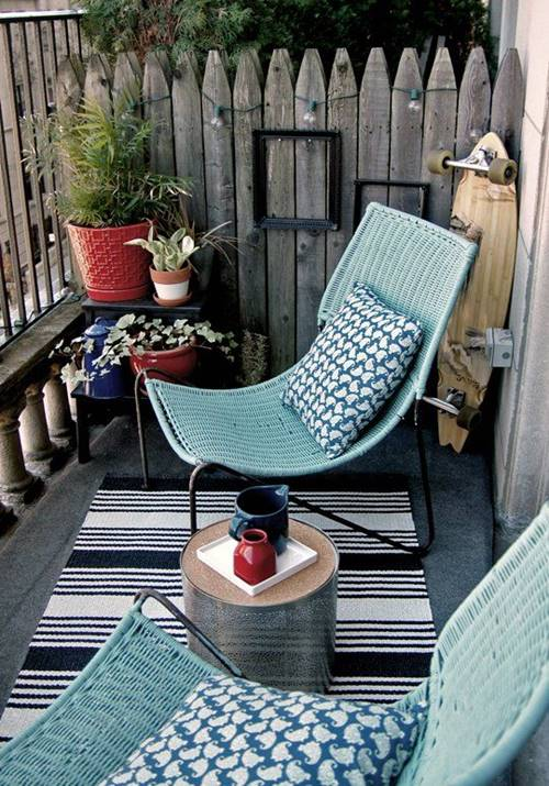 inspiring designs for decorating small balcony