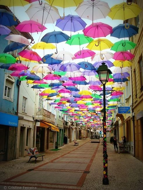 Umbrella street Portugal