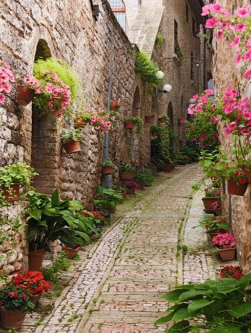 The town of Giverny, France - home of Claude Monet