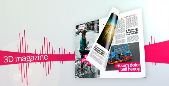 3D magazine mock-up bundle