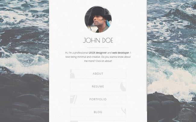 Balloon-Personal-HTML-vCard-Template