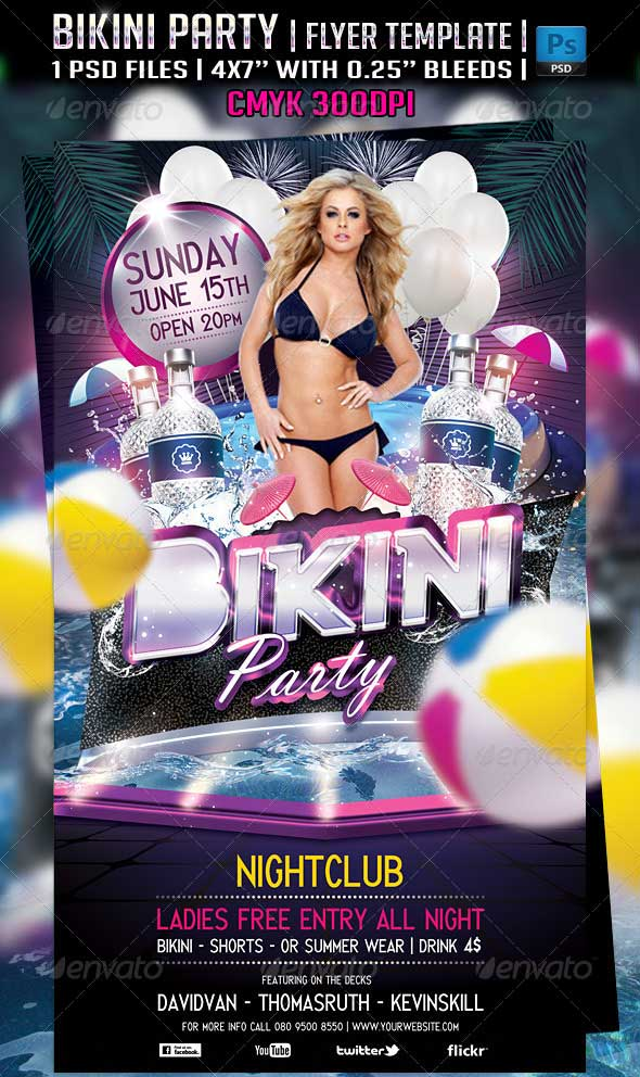 Bikini-Party-Flyer-Template