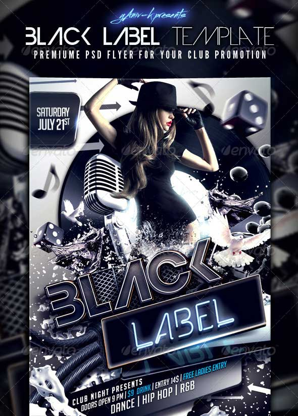 Black-Label-Flyer-Template