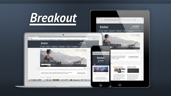 Breakout Responsive WordPress Theme