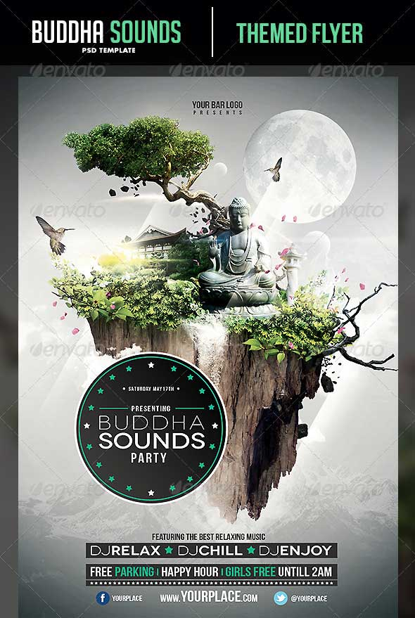 Buddha-Sounds-Flyer-Template
