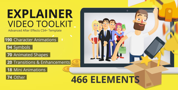 Character Design Animation Toolkit Free : Professional after effects product promo templates