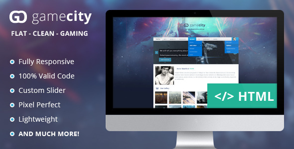 GameCIty - A Flat & Responsive Gaming Template